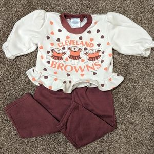 Cleveland Browns Baby Outfit